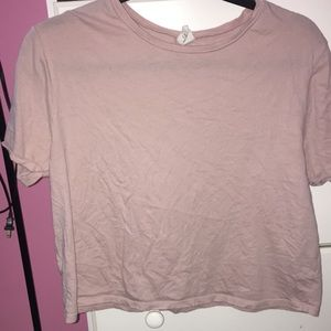plain light pink tee